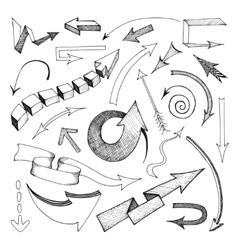 Arrows icon sketch vector image vector image