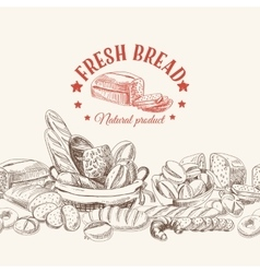 bakery retro background vector image vector image