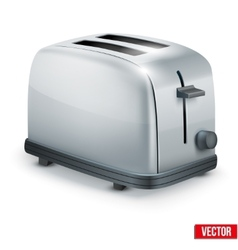 Bright metal toaster isolated on white vector