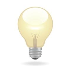 Bulb icon vector image vector image