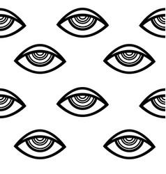 eye pattern vector image