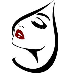 Fashion face closeup vector image