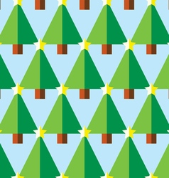 Geometric Christmas trees with star pattern vector image