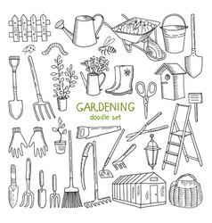 hand drawn of gardening vector image