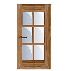 Interior apartment wooden door vector image vector image