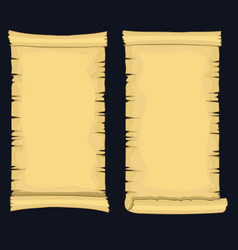 papyrus scrolls aged blank paper scroll medieval vector image