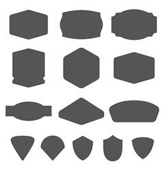 Set of vintage frames for emblems labels insigni vector image