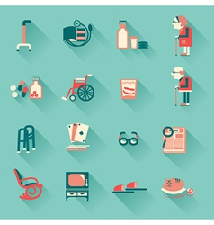 Special objects for pensioners life vector