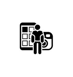 blogger icon flat design vector image