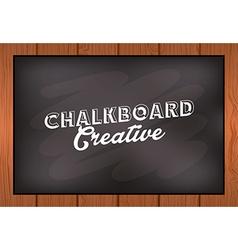 chalkboard creative vector image