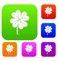 clover leaf set color collection vector image
