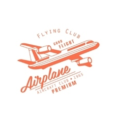 Flying Club Red Emblem Design vector image vector image