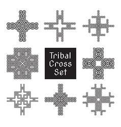 tribal cross set vector image vector image