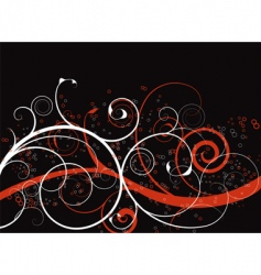 abstract spirals background vector image vector image