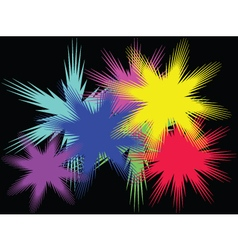 background with color stars vector image