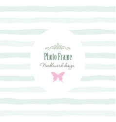 elegant vintage template - oval frame with vector image vector image