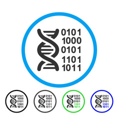 genome code rounded icon vector image vector image