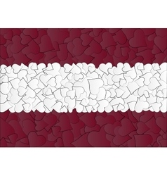 Latvia Austria Flag maden with doodle hearts a vector image vector image