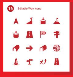 16 way icons vector