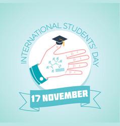 17 november international students day vector