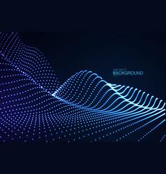 3d glowing neon digital relief of particles vector