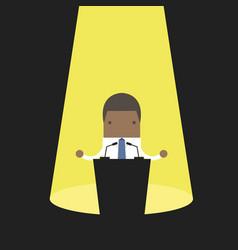 African businessman behind a podium vector