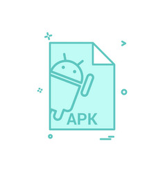 apk file file extension file format icon design vector image