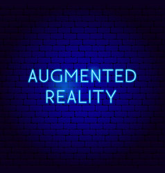 Augmented reality neon sign vector