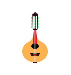bandurria flat style spanish musical vector image