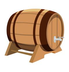 beer barrel on white background vector image