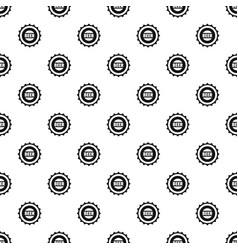 beer cap pattern seamless vector image