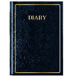Black diary cover vector