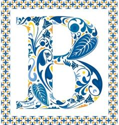 Blue letter B vector