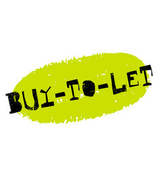 Buy-to-let sticker stamp vector