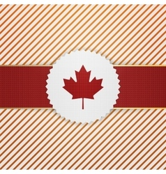 Canada paper Tag with red Ribbon vector