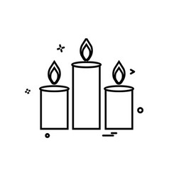 candles icon design vector image