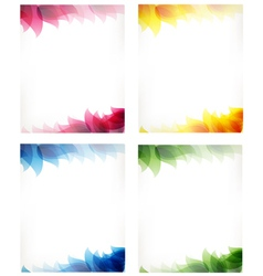 cards with leaf pattern vector image