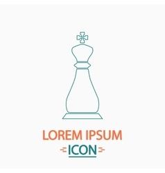 Chess king computer symbol vector