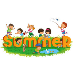 children summer vector image