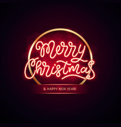Christmas colorful neon snowflakes vector