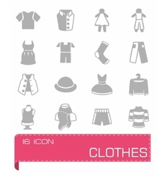 Clothes icon set vector image