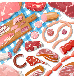 Collection meat vector
