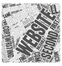Copywriting Vancouver Word Cloud Concept vector