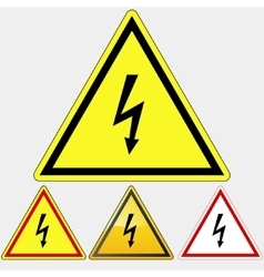 Danger Electrical Hazard sign vector image