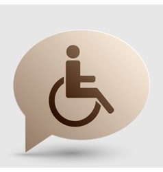 Disabled sign Brown gradient icon on vector image