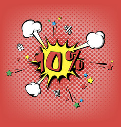 discount 10 percent pop art retro style vector image
