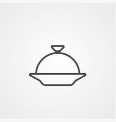 dish icon sign symbol vector image