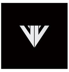 Double letter v logo vector