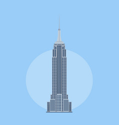 Empire state building - united states desig vector