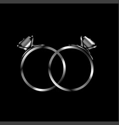 Engagement rings- signs of matrimony vector
